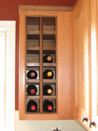 Charlottesville area kitchen remodeling for Wine rack built in